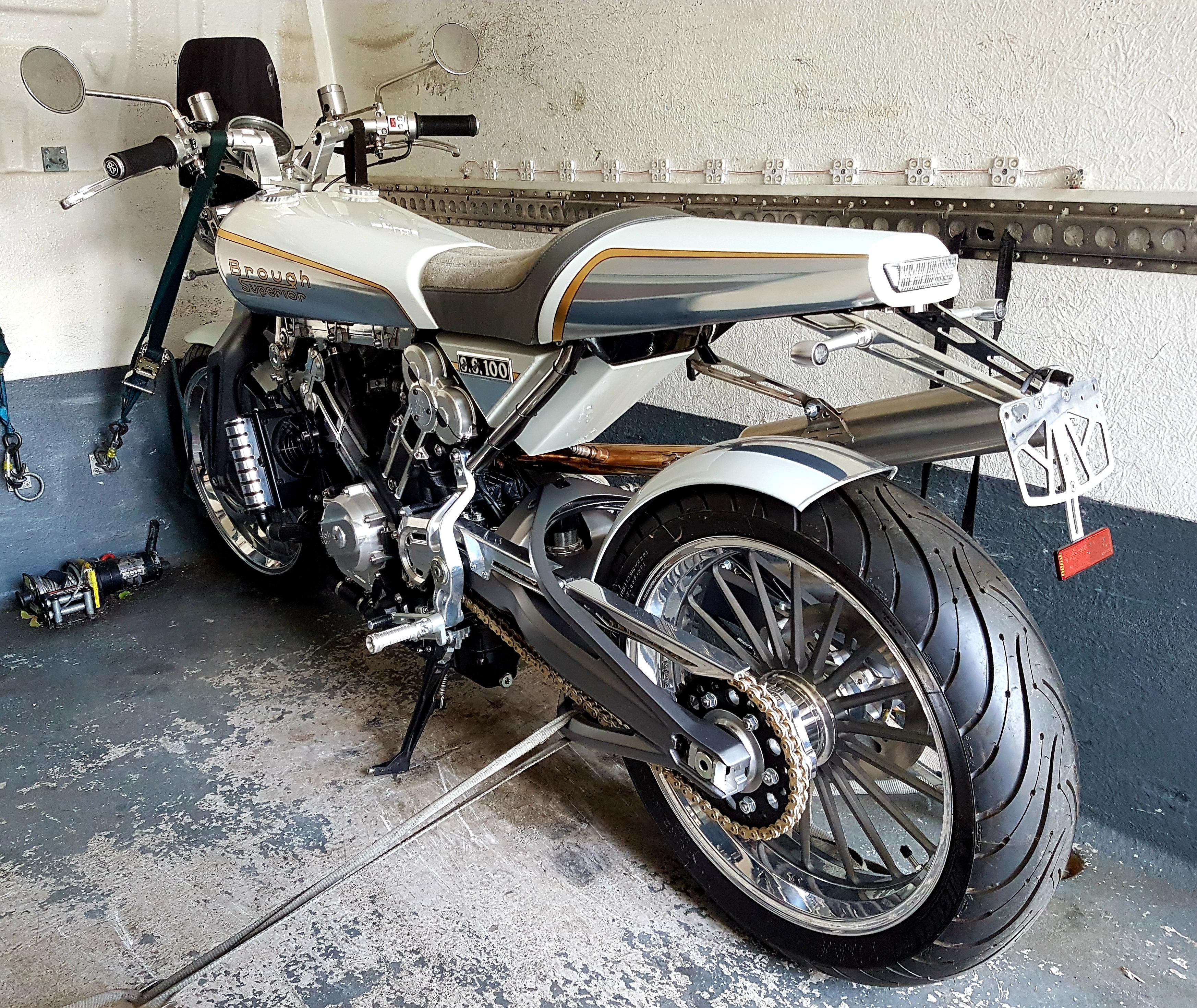Silver custom bike on board | LBT Motorcycle Recovery