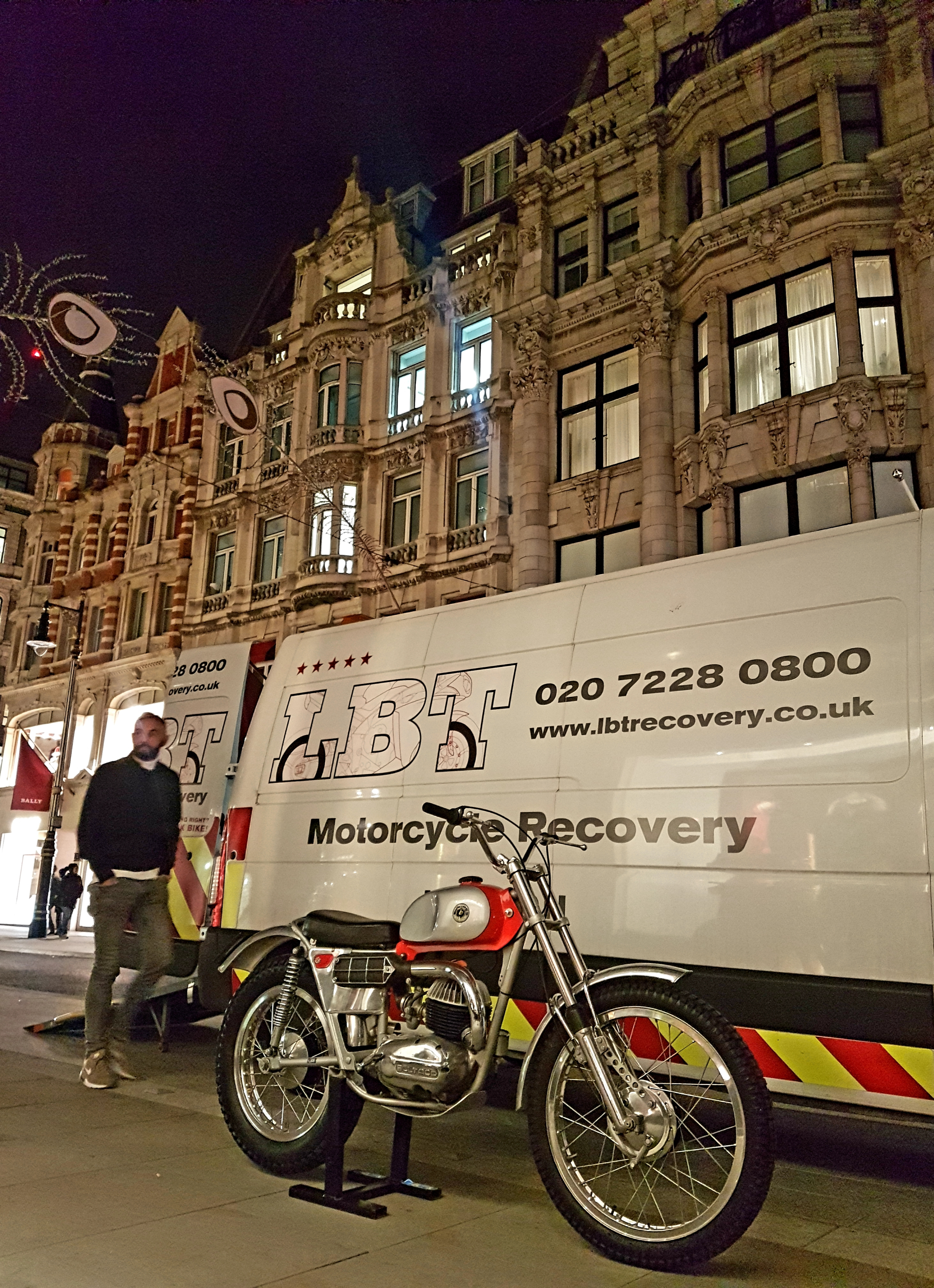 Bond Street evening collection | LBT Motorcycle Recovery
