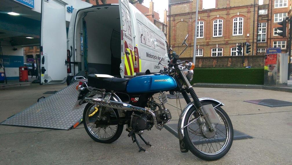 Blue Honda-GS | LBT Motorcycle Recovery | London