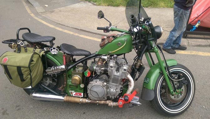 Vintage green bike | LBT Motorcycle Recovery | London