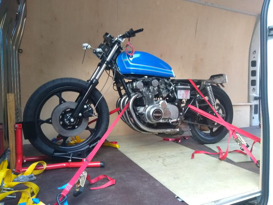 Blue racer ready to go | LBT Motorcycle Recovery