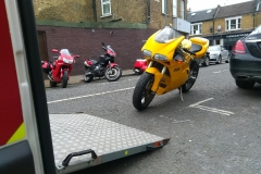 Yellow Ducati  | LBT Motorcycle Recovery | London 020 7228 0800
