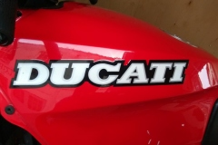 Ducati badge | LBT Motorcycle Recovery | London 020 7228 0800