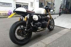 Norton bike from rear  | LBT Motorcycle Recovery | London 020 7228 0800