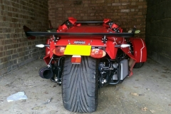 Big red wheels | LBT Motorcycle Recovery | London