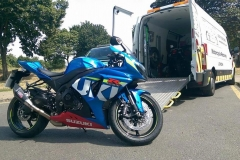 Blue Susuki   LBT Motorcycle Recovery