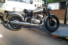 Crazy bullet custom bike   LBT Motorcycle Recovery   London 020 7228 0800