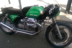 Green Moto Guzzi | LBT Motorcycle Recovery | London