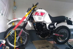 White scrambler loaded   LBT Motorcycle Recovery