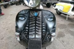 Custom painted scooter   LBT Motorcycle Recovery