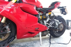 Red Ducati side view   LBT Motorcycle Recovery