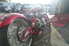 Red low wheeler | LBT Motorcycle Recovery