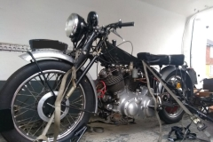 Vincent strapped and ready in van | LBT Motorcycle Recovery
