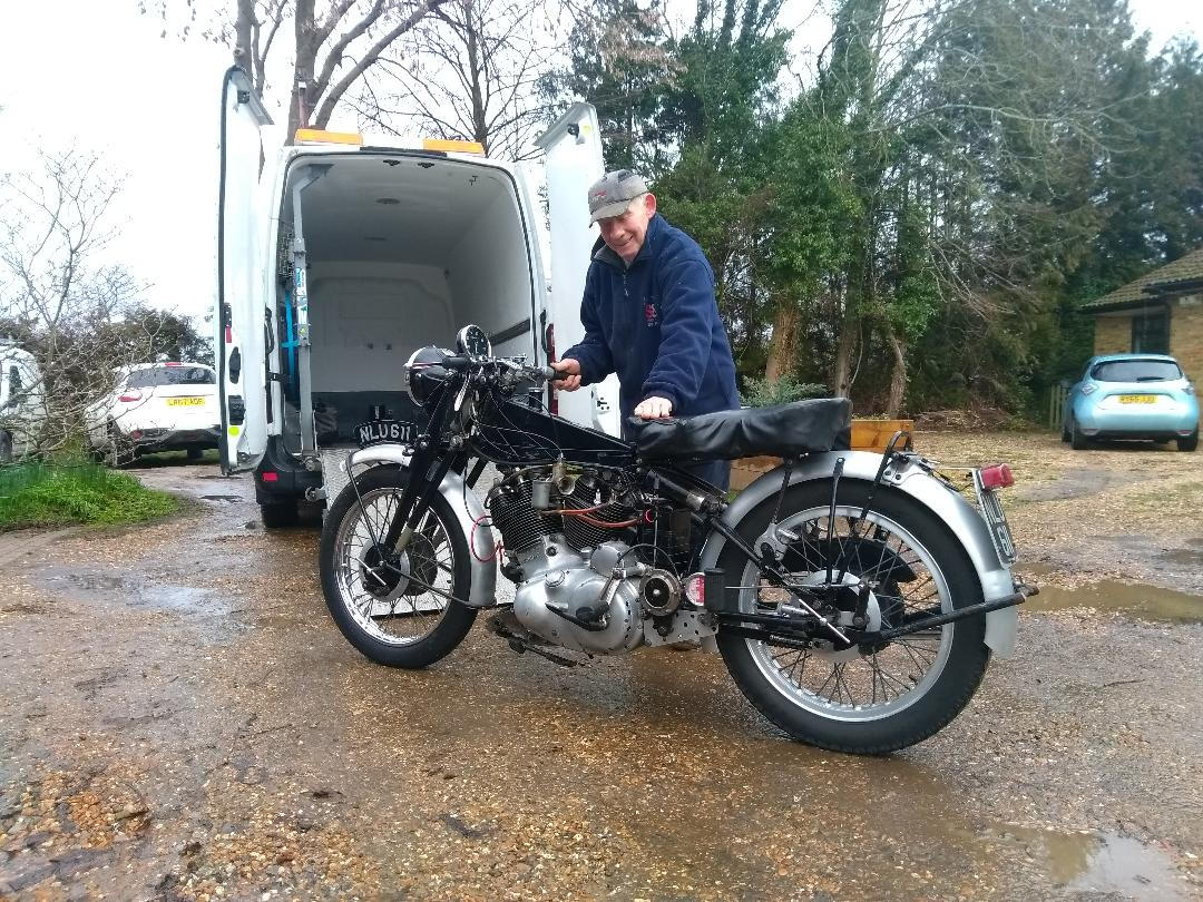Old Vincent being loaded | LBT Motorcycle Recovery